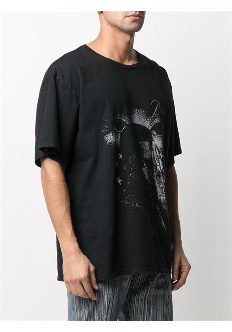Rhude t-shirt con stampa uomo nero RHUDE | T-shirt | RHPS21TT30015