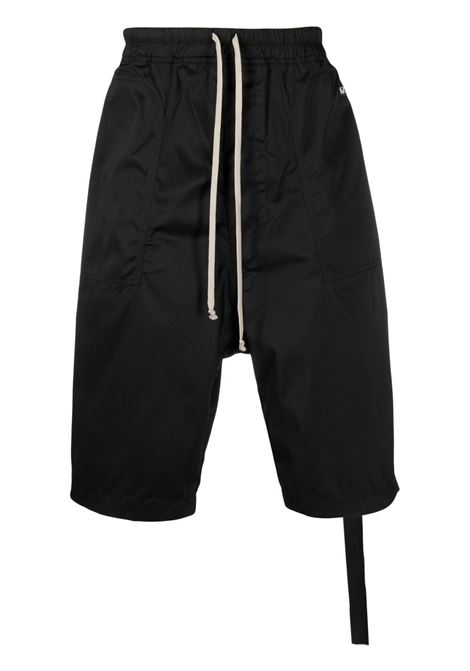 Rick Owens Drkshdw drop crotch slouched trousers man black RICK OWENS DRKSHDW | Shorts | DU21S2368 TAR09