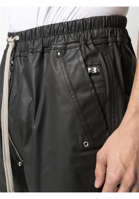 Rick Owens Drkshdw drawstring drop crotch trousers man black RICK OWENS DRKSHDW | Trousers | DU21S2377 TWR09