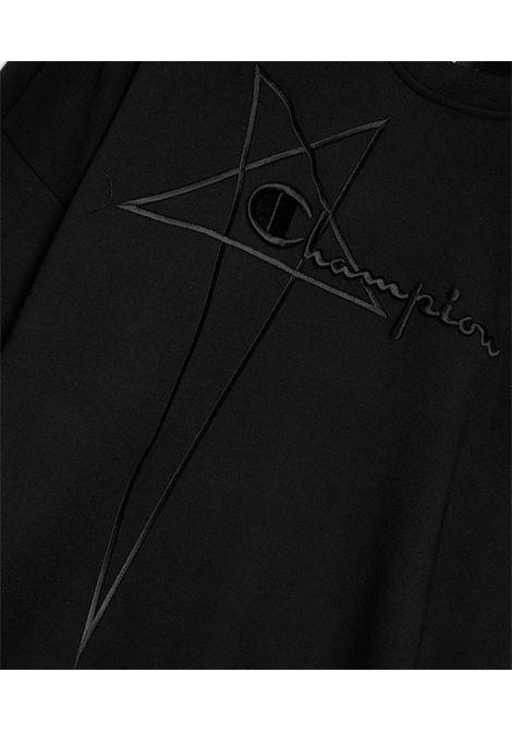 Felpa Con Logo Ricamato Uomo RICK OWENS X CHAMPION | Felpe | CM21S0005 21676009