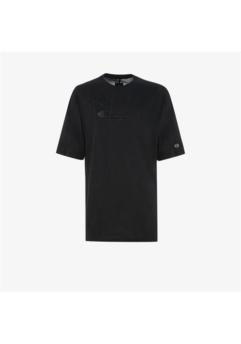 Rick Owens X Champion t-shirt con logo uomo nero RICK OWENS X CHAMPION | T-shirt | CM21S0010 21676209