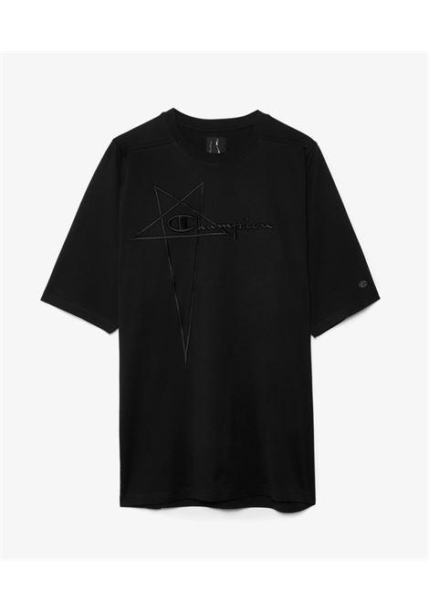 t-shirt con logo uomo nera in cotone RICK OWENS X CHAMPION | T-shirt | CM21S0010 21676209
