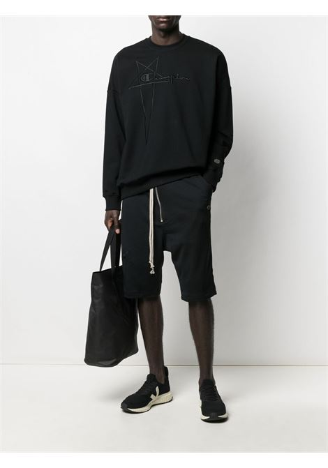 Rick Owens X Champion zip shorts man black RICK OWENS X CHAMPION | Shorts | CM21S0014 21677709