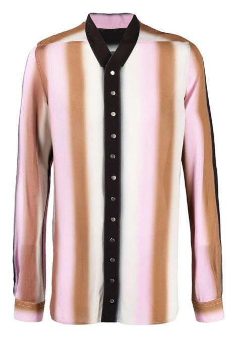 Rick Owens camicia a righe uomo RICK OWENS | Camicie | RU21S6290 CCP10A