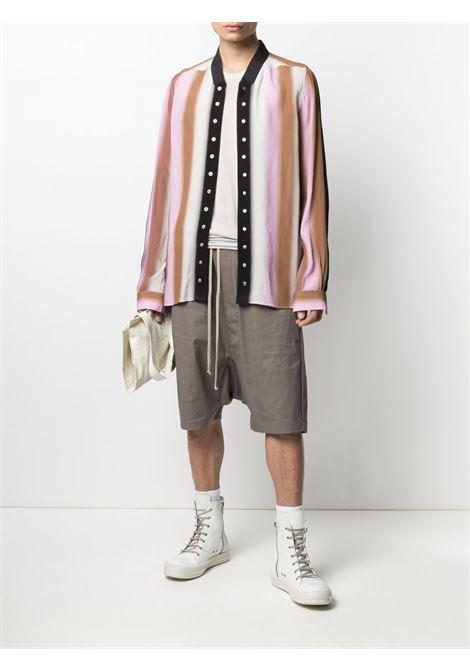 Camicia A Righe Multicolore Uomo Viscosa RICK OWENS | Camicie | RU21S6290 CCP10A