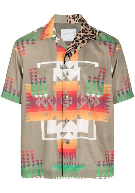 Sacai camicia con stampa frecce uomo SACAI | Camicie | 21-02471MBEIGE