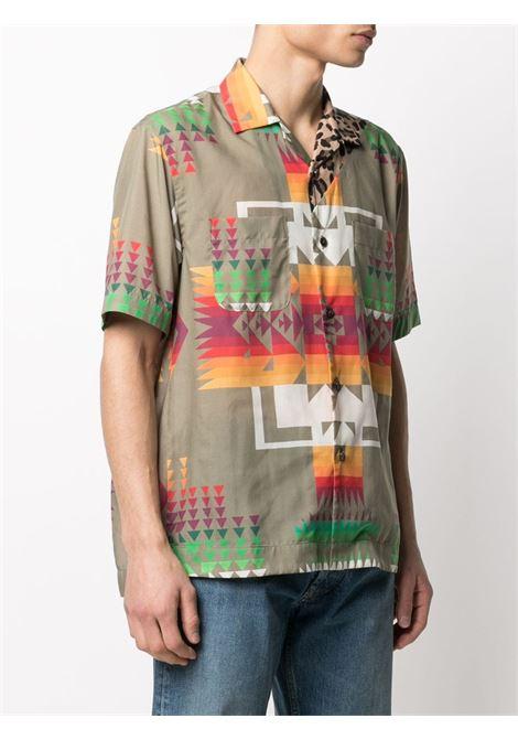 ARCHIVE PRINT MIX SHIRT SACAI | Shirts | 21-02471MBEIGE