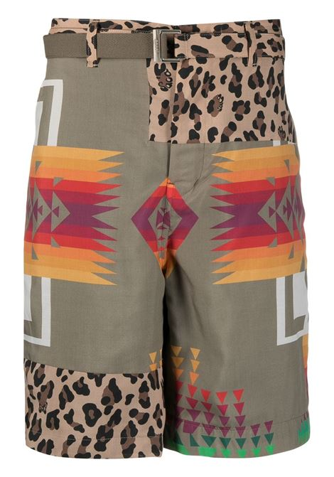 ARCHIVE PRINT MIX SHORTS SACAI | Shorts | 21-02473MBEIGE