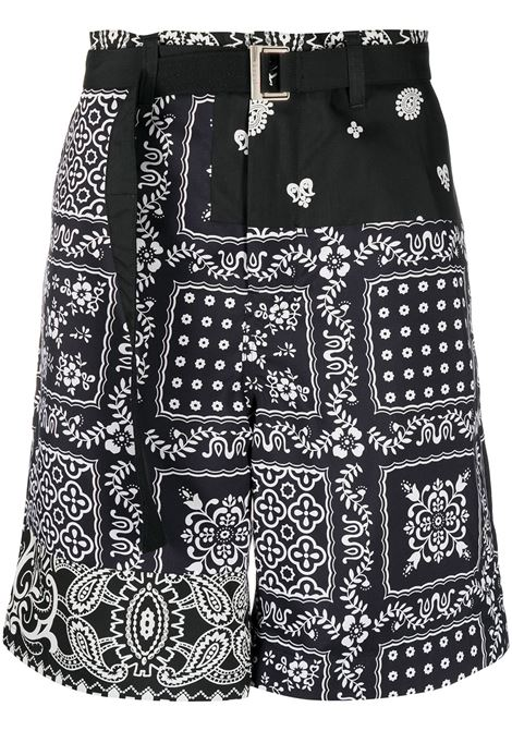 ARCHIVE PRINT MIX SHORTS SACAI | Shorts | 21-02473MBLACK/NAVY