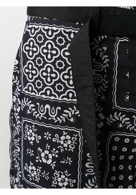 bermuda con cintura uomo neri in poliestere SACAI | Bermuda | 21-02473MBLACK/NAVY