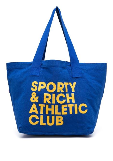 Sporty & Rich printed logo bag unisex blue SPORTY & RICH | Bags | AC082RB