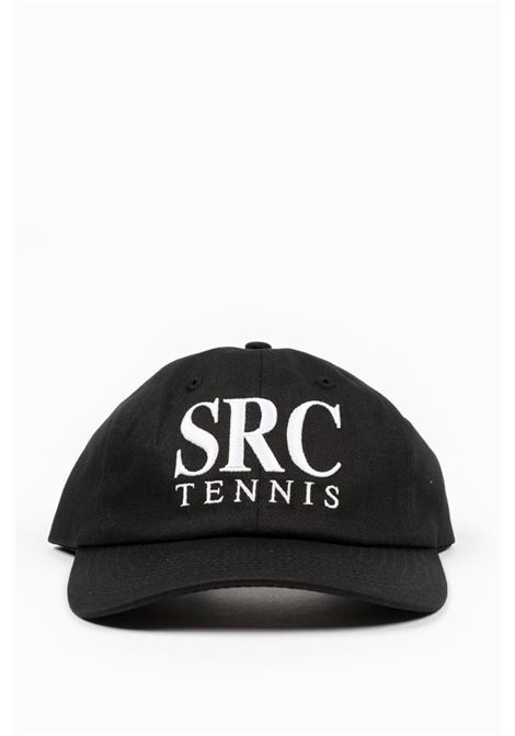 Src tennis hat Black Man Cotton SPORTY & RICH | Hats | AC152BK