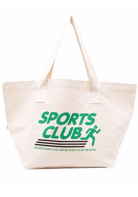 Borsa Sportsclub Beige in Cotton Unisex SPORTY & RICH | Borse | AC171NT