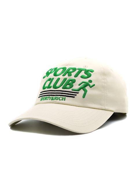Cappello con logo Beige Unisex SPORTY & RICH | Cappelli | AC172MK