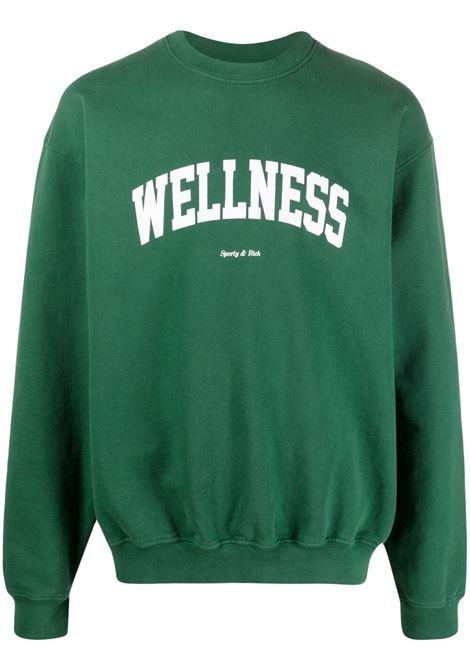Sporty & Rich felpa a girocollo wellnes unisex verde SPORTY & RICH | Felpe | CR091BR