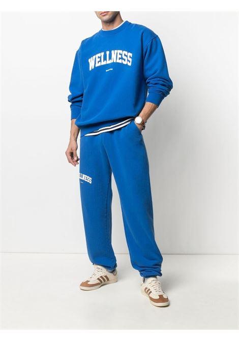 Sporty & Rich crew neck sweat wellness unisex blue SPORTY & RICH | Sweatshirts | CR091PR