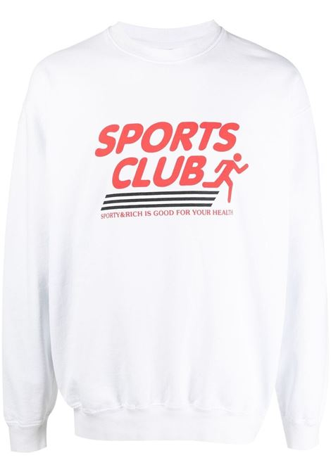 Sporty & Rich print sweatshirt unisex white SPORTY & RICH | Sweatshirts | CR144WH