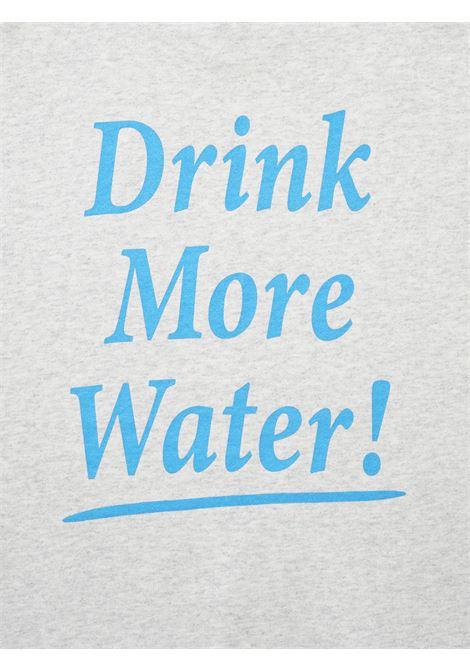 Felpa drink water Grigia in Cotone Unisex SPORTY & RICH | Felpe | CR171HG