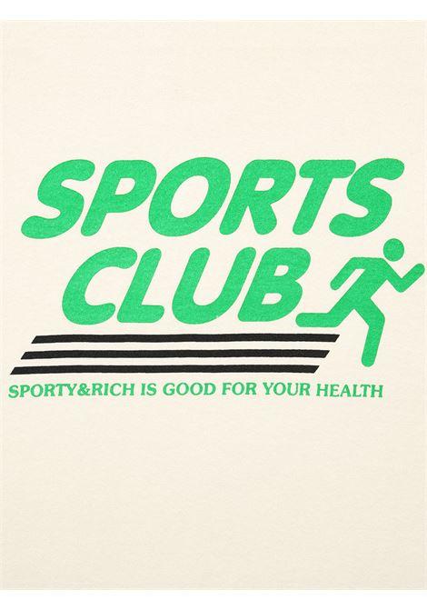 Felpa sports club Beige in Cotone Unisex SPORTY & RICH | Felpe | CR175MK