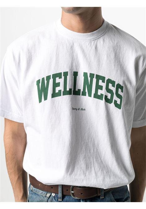 Sporty & Rich t-shirt wellness unisex bianco SPORTY & RICH | T-shirt | TS091WH