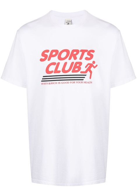 Sporty & Rich print t-shirt unisex white SPORTY & RICH | T-shirts | TS141WH