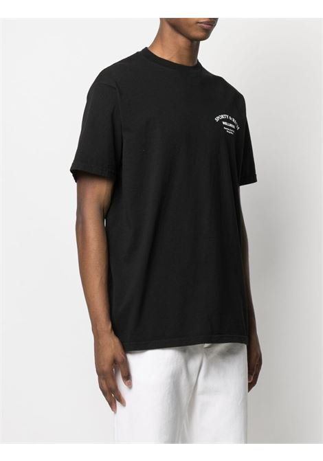 Sporty & Rich t-shirt con stampa unisex nero SPORTY & RICH | T-shirt | TS143BK