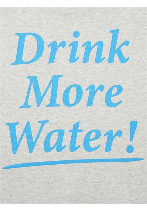 Drink water t-shirt Grey in Cotton Man SPORTY & RICH | T-shirts | TS171HG