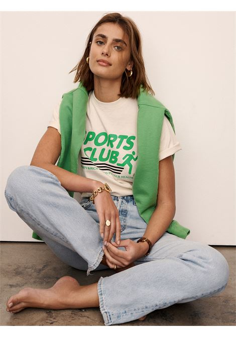Sports club t-shirt Beige Cotton Unisex SPORTY & RICH | T-shirts | TS174MK