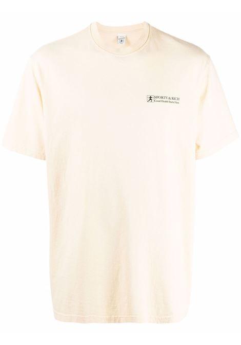 t-shirt good health unisex beige in cotone SPORTY & RICH | T-shirt | TS185CI