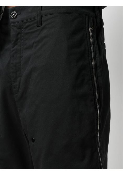 Stone Island Shadow Project pantaloni con zip uomo nero STONE ISLAND SHADOW PROJECT | Pantaloni | 741930308V0029