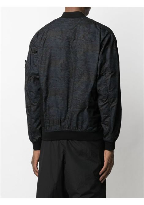 Stone Island Shadow Project bomber con pannelli in rete uomo nero STONE ISLAND SHADOW PROJECT | Giacche | 741940403V0029