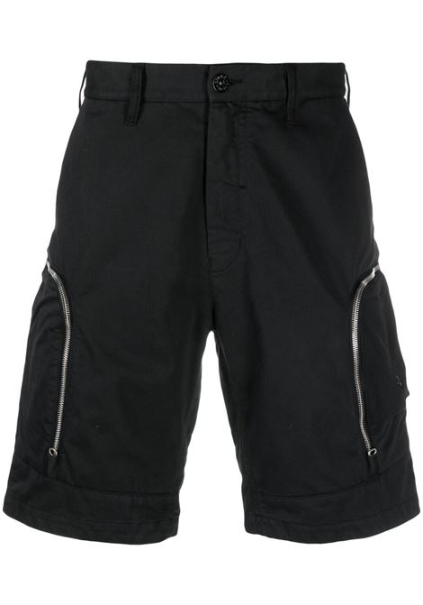 Stone Island Shadow Project zip embellished shorts man black STONE ISLAND SHADOW PROJECT | Shorts | 7419L0208V0029