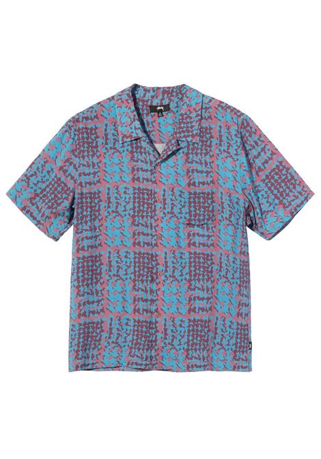 Stussy camicia hand drawn houndstooth shirt uomo STUSSY | Camicie | 1110150BERRY