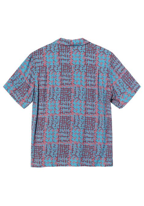 Stussy camicia hand drawn houndstooth shirt uomo STUSSY | Camicie | 1110150BERRY