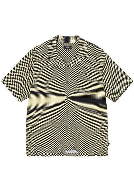 Psychedelic check shirt Black Man Polyester STUSSY | Shirts | 1110165BLACK