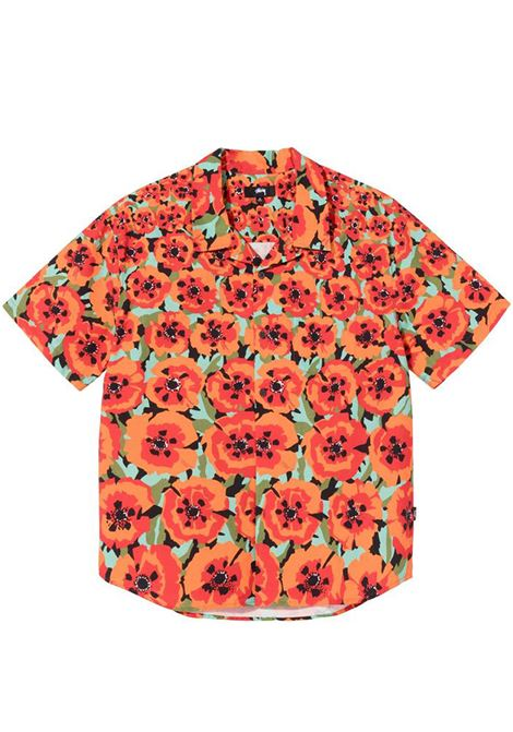 Poppy shirt Orange Man Cotton STUSSY | Shirts | 1110166ORANGE
