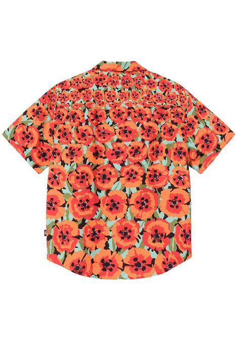 Camicia Poppy Arancione in Cotone Uomo STUSSY | Camicie | 1110166ORANGE