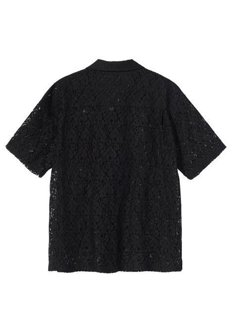 FLORAL PATTERN LACE SHIRT STUSSY | Shirts | 1110178BLACK