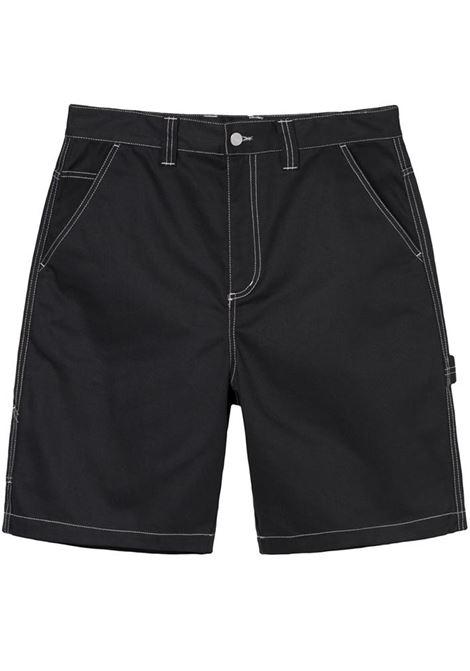 Poly cotton work short Black Man STUSSY | Shorts | 112264STEBLACK