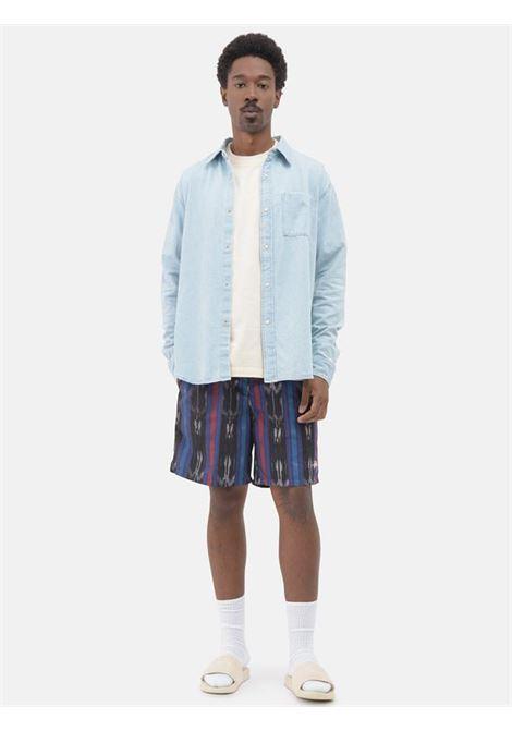 Ikat Stripe Water Short Black Man STUSSY | Swimwear | 113135BLACK