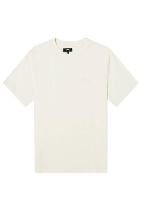 LOGO T-SHIRT STUSSY | T-shirts | 1140241NATURAL