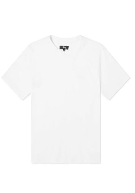 Stussy t-shirt con logo uomo STUSSY | T-shirt | 1140241WHITE
