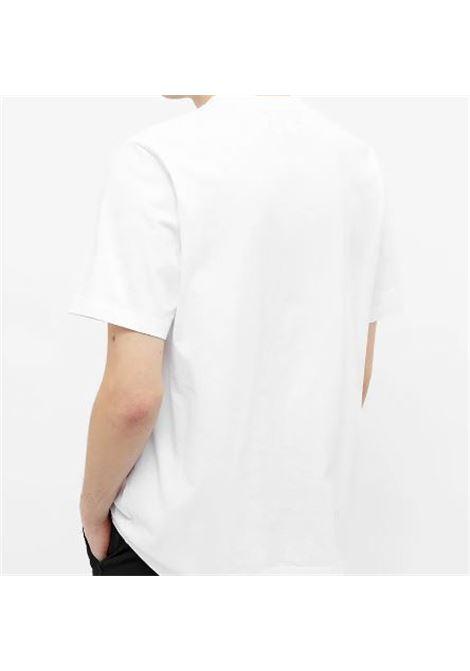 T-Shirt Con Logo Bianca Uomo in Cotone STUSSY | T-shirt | 1140241WHITE