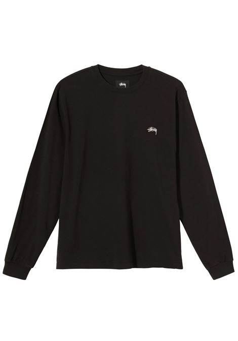Stussy t-shirt manica lunga con logo uomo STUSSY | T-shirt | 1140242BLACK