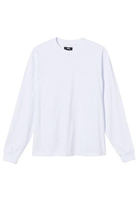 Stussy t-shirt manica lunga con logo uomo STUSSY | T-shirt | 1140242WHITE
