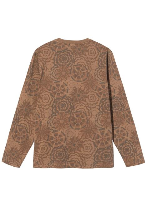 FLOWER LONG SLEEVE STUSSY | T-shirts | 1140246BROWN