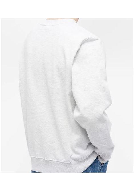 Stussy felpa con logo uomo STUSSY | Felpe | 118419ASH HEATHER