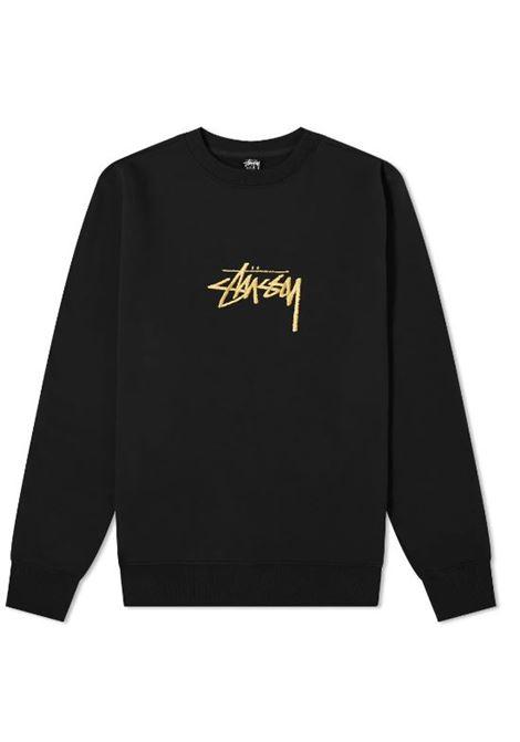 Stussy felpa con logo uomo STUSSY | Felpe | 118419BLACK
