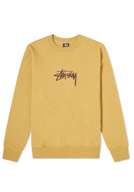 Stussy felpa con logo uomo STUSSY | Felpe | 118419KHAKI