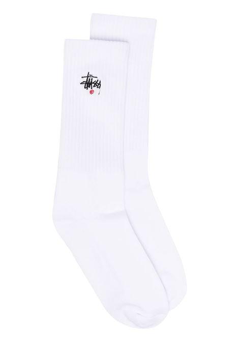 BASIC LOGO CREW SOCKS STUSSY | Socks | 138713WHITE